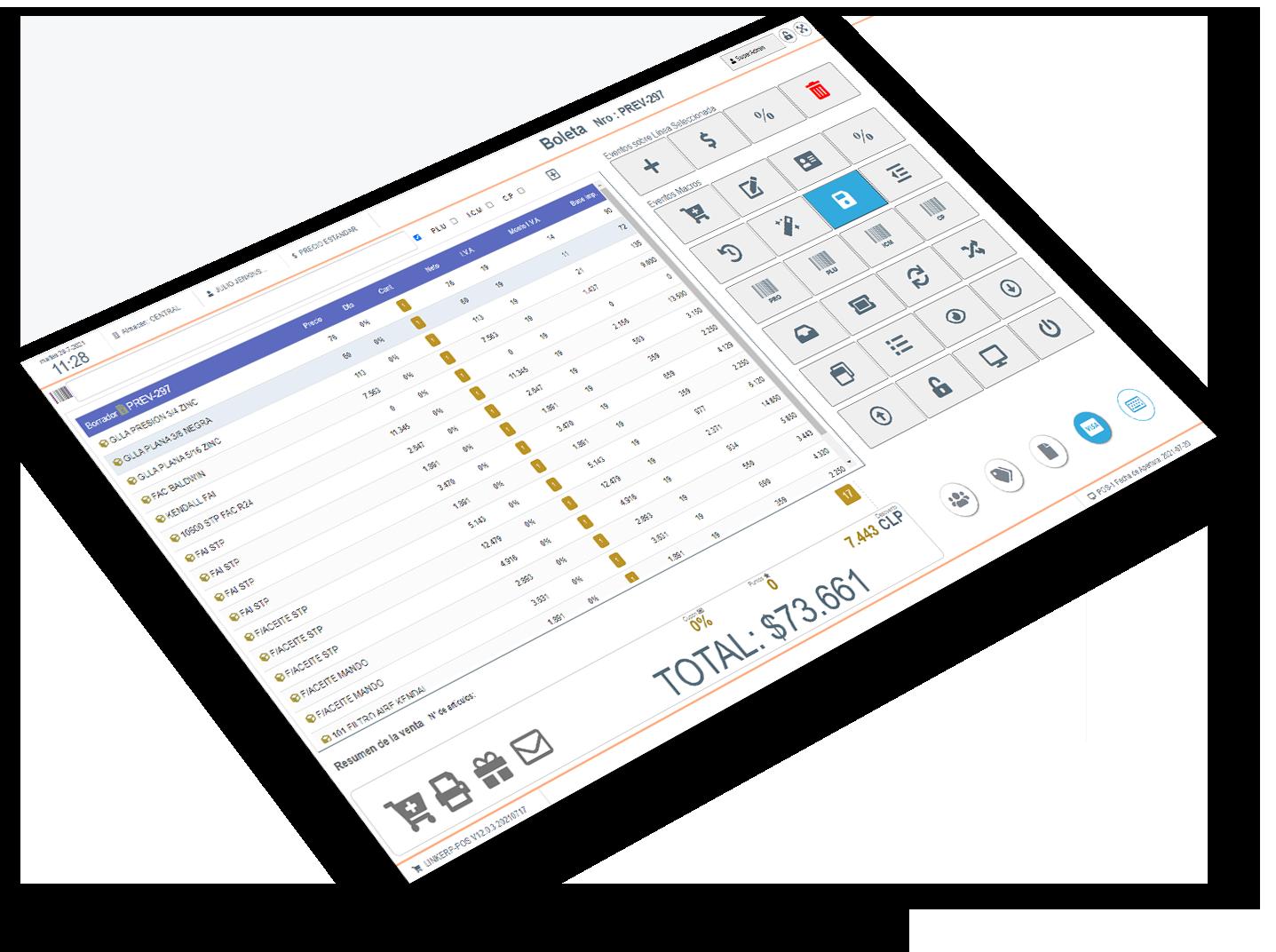 eTapePos - POS - TPV punto de venta web, con factura y boleta electronica